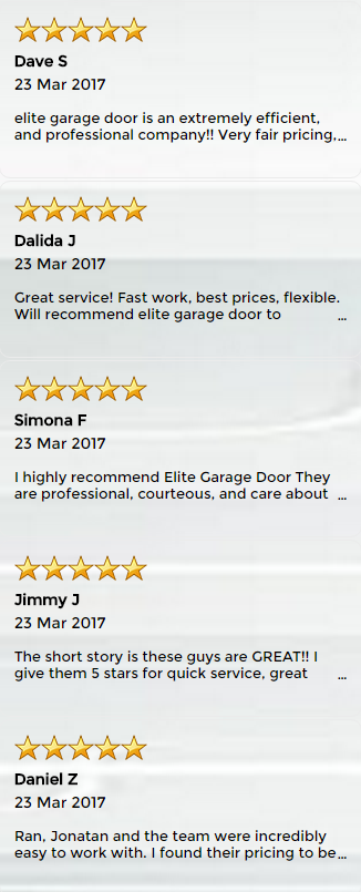 Good Feedbacks From Our Customers - ETS Garage Door Repair Of Salt Lake City